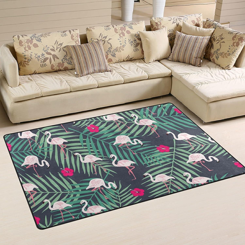 Fashion Flamingo Leaves Large Soft Area Popularity Playmat Nursery Rug shop Rugs