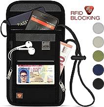 Lewis N. Clark RFID Blocking Stash Neck Wallet, Travel Pouch + Passport Holder for Women & Men, Black