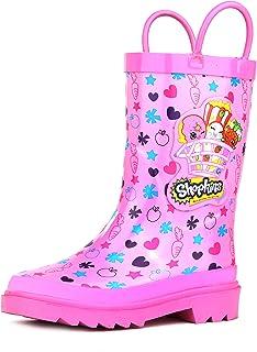 أحذية المطر المطاطية سهلة الارتداء مطبوع عليها شخصيات شوبكينز للأطفال والبنات (الأطفال الصغار)