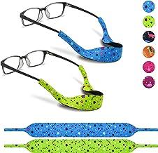 2 Eyeglass Strap for Kids by SQV - Elastic Neoprene Lanyard Sports Safety Eye Glasses Cord Holder, Children No-Tail Adjust...