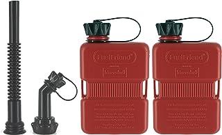 FuelFriend® Plus 1,0 Liter   Klein Benzinkanister Mini Reservekanister + Auslaufrohr Set   im Doppelpack