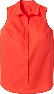 Women's Plus Size Perfect Button Down Sleeveless Shirt