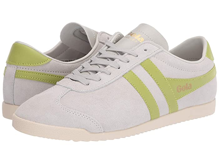 Vintage Sneakers for Men and Women Gola Bullet Suede Off-WhiteCitron Womens Shoes $51.00 AT vintagedancer.com