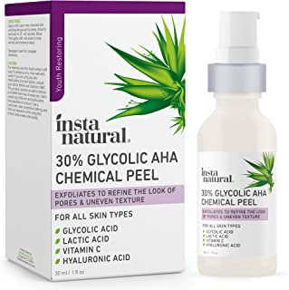 Glycolic Acid 30% AHA Chemical Peel - Blackhead, Dark Spot & Acne Scar Removal & Treatment for Face - AHA Peeling Solution...