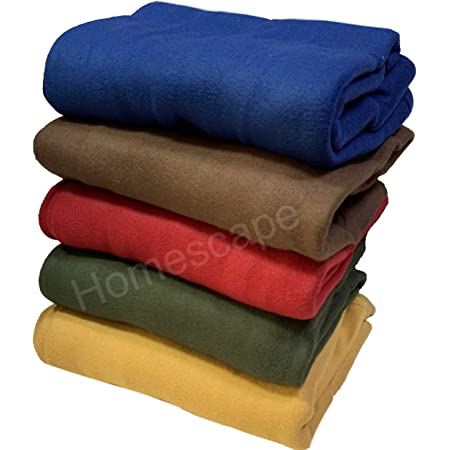 Pack of 4 -hGg Details about  /SHREE JEE Single Bed Fleece Blanket;Multi Color