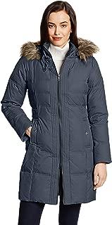 Women's Hooded Three-Quarter Length Down Coat