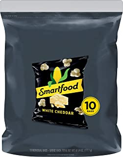 Smartfood Popcorn, White Cheddar (10 Count of 0.625 oz Bags) 6.25 oz