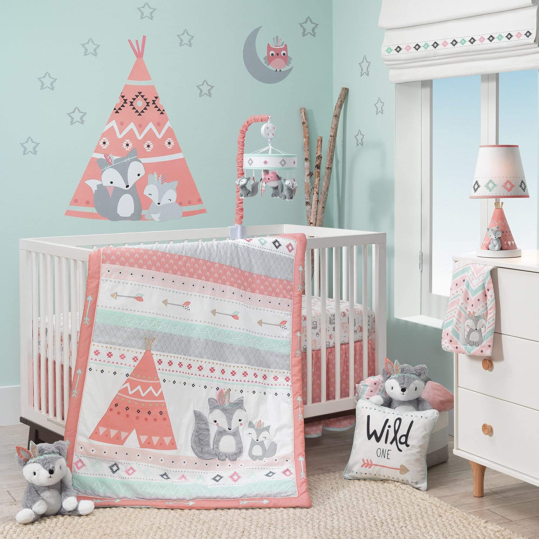 Max Wholesale 51% OFF Lambs Ivy Little Spirit 3-Piece Crib Blue Gray Set - Bedding