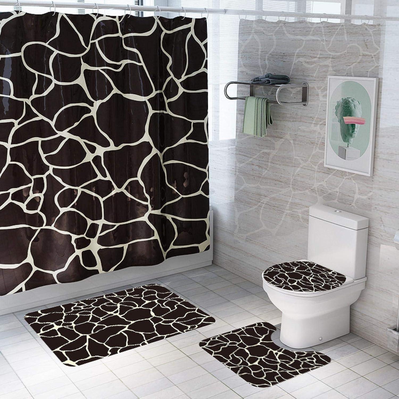 Los Angeles Mall ZHEXI Marbling Printed Bathroom Shower Curtain C Bath Free shipping / New Waterproof