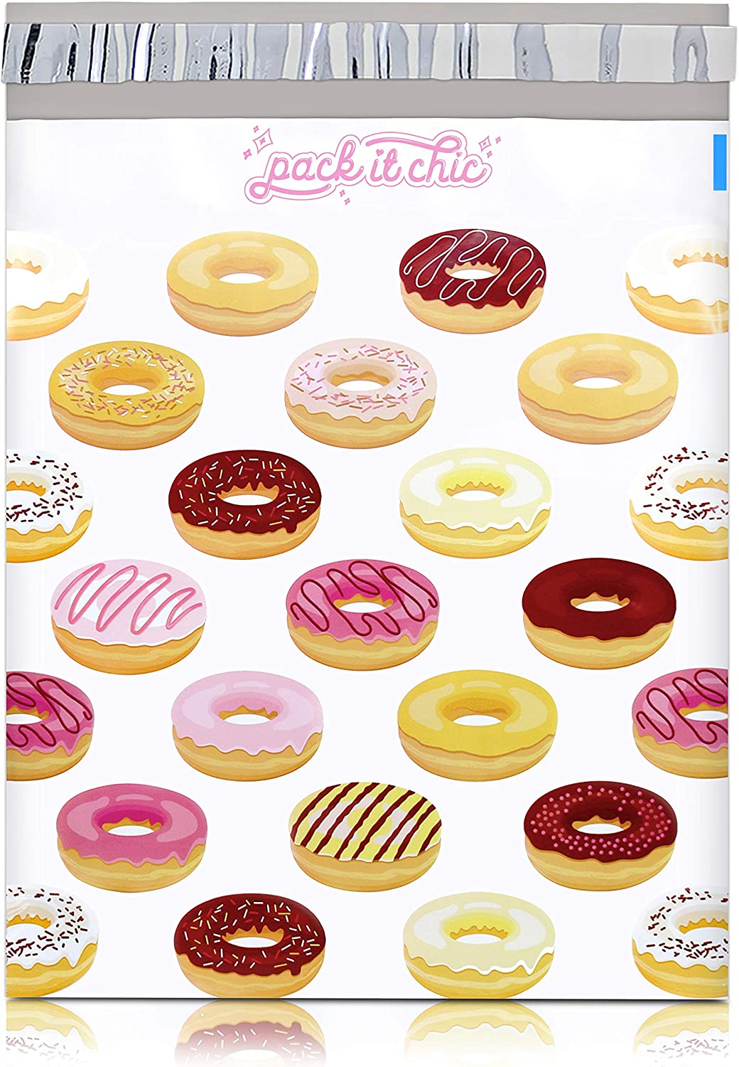Pack It Chic - 10X13 100 Doughnut Poly Env Pattern Mailer Mail Sale order