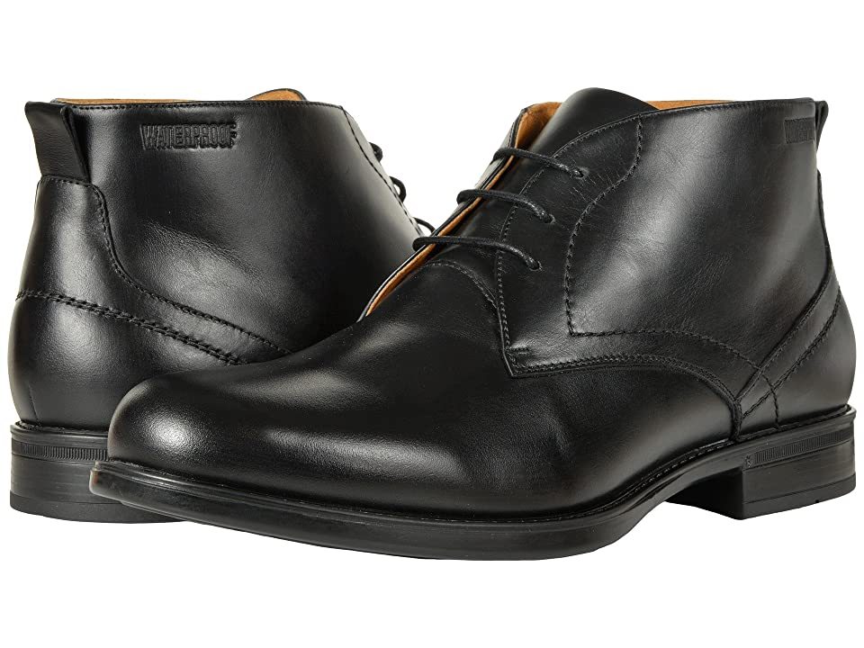 Florsheim Midtown Waterproof Chukka Boot (Black Smooth) Men