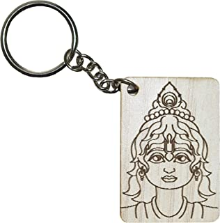 Lord Krishna Key Ring (White)- VRINDAVANBAZAAR.COM