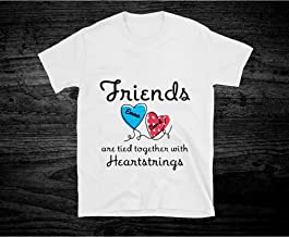 Personalized Friends Are Tied Together With 2 Heartstrings T shirt Hoodie for Men Women Unisex