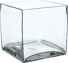 CYS Cube Glass Vase. H-8