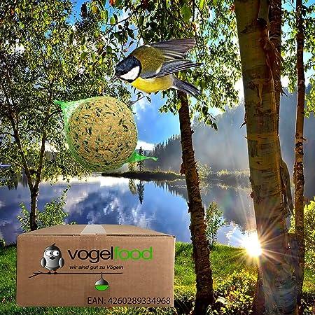 Vogelfood 100 x 90 g = 9 kg Meisenkn/ödel mit Fr/üchten ohne Netz