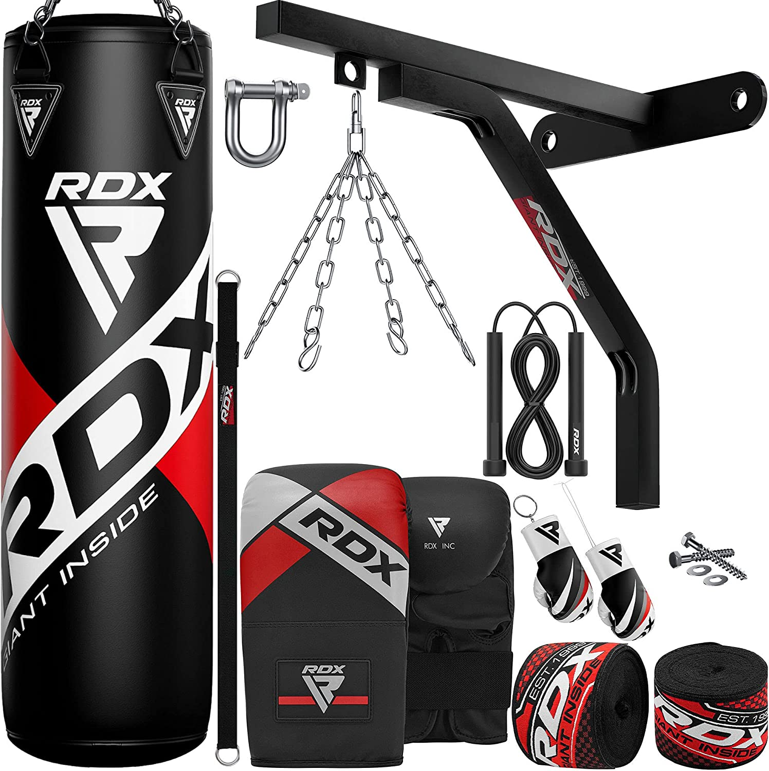 RDX Punching Bag Boxing Training 15pc 4ft Filled 5ft Today's only Heavy Regular discount Duty