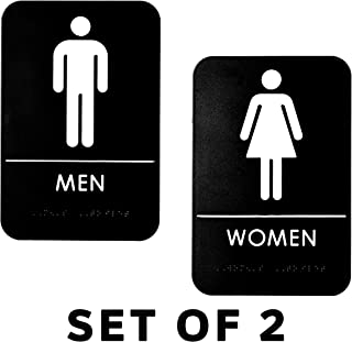 bathroom door signage