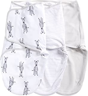 Aden by Aden + Anais Adjustable Swaddle Wrap, Cotton Baby Wrap Set for Infant Girls & Boy, Newborn Wearable Swaddle Sleep Sack, 3 Pack, 0-3 Months, Small/Medium, Zebra Adventure