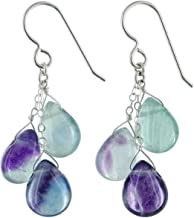 Polished Rhodium Plated Fluorite Post earring Fluorite 5mm Stud Earring G015201E-PRFR 2 Pieces