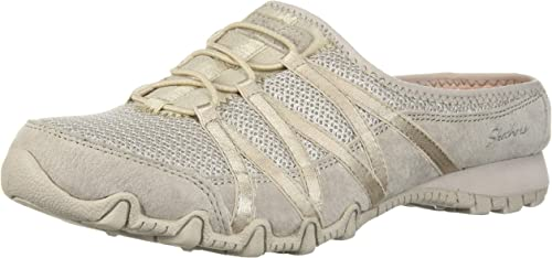 Skechers Wohommes Bikers-Fan Bikers-Fan Bikers-Fan Club-Sporty Slip-On Mesh-Bungee Mule, Relaxed FIT, Natural, 7 M US e74