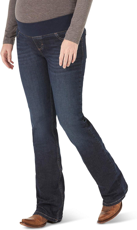 Wrangler Women's Misses Weekly update Retro Mae Boot NEW before selling ☆ Denim Jean Cut Maternity
