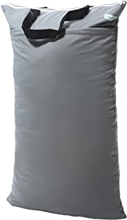 Wegreeco Reusable Hanging Wet Dry Cloth Diaper Bag(1 Pack,Grey)