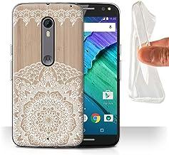 Stuff4 Carcasa/Funda TPU/Gel para el Motorola Moto X Style/Serie: Fina Madera de Encaje - Mandala de Bambú