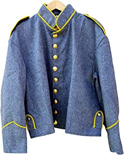10Code US Civil war Confederate Cavalry Shell Jacket with Shoulder Straps