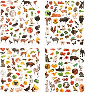 800 Pieces Animal Stickers Set Animal Themes Stickers Animals Party Sticker Kit Farm Animal Assortment Stickers for Childr...