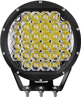 Primelux 8-inch 14400 Lumens Off Road LED Driving Light - 32x5W Cree Spot Beam for Jeep Wrangler JK TJ Cherokee XJ GMC Ford Raptor - PC Lens Cover - Waterproof IP67 (Black Ring)
