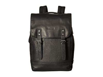 Kenneth Cole Reaction Colombian Leather Computer Backpack (Black) Backpack Bags