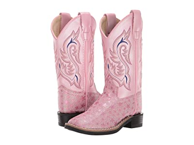 Old West Kids Boots Mia (Toddler/Little Kid) (Pink Star Glitter) Cowboy Boots