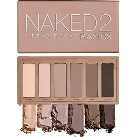 Urban Decay Naked2 Basics Eyeshadow Palette, 6 Taupe & Brown Matte Neutral Shades - Ultra-Blendable, Rich Colors with Velvety Texture - Makeup Set Includes Mirror & Full-Size Pans - Great for Travel