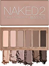 Urban Decay Naked2 Basics Eyeshadow Palette, 6 Taupe & Brown Matte Neutral Shades - Ultra-Blendable, Rich Colors with Velv...