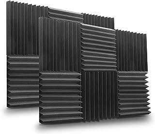 Pyle PSI1612 Studio Soundproofing Panel Kit, 12'' x 12'' Squares, 1'' Thick, 12 Pieces