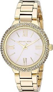 Women's Taryn Quartz Watch with Stainless Steel Strap, Gold, 16 (Model: MK4459)