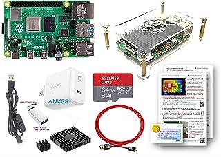 Raspberry Pi 4 Model B (4GB) (BASICキット) SanDisk Ultra 64GB MicroSD, Anker 15W電源