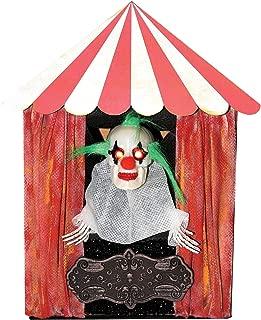 Halloween Animated Creepy Clown Circus Tent Figurine, 10 3/8 Inch