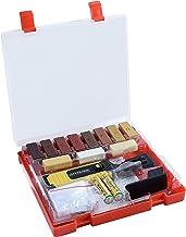 Werkzeyt Houtreparatieset 17-delig -11 verschillende tinten - incl. wassmelter, schaaf & schuurspons - geschikt voor houte...