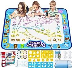 "Jasonwell Aqua Magic Doodle Mat 39.5 ""X 31.5"" آب فوق العاده بزرگ نقاشی Doodling Mat رنگ آمیزی اسباب بازی های آموزشی هدیه برای کودکان نوپای پسرانه دختران سن 2 3 4 5 6 7 8 سال"