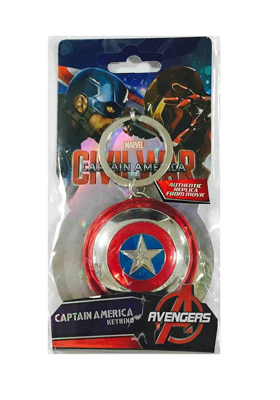 Marvel Captain America Shield Pewter Key Ring oegyocxmmxt195
