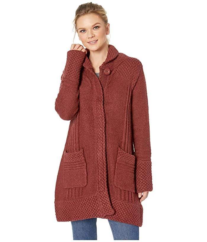 Prana Elsin Sweater Coat (Mulled Wine) Women