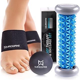 Foot Massager Roller Ball & Arch Support - Relieve Plantar Fasciitis, Foot Arch Pain, Heel, Muscles, Stress, Flat Feet, Hi...