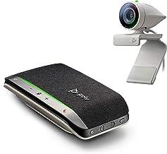 Poly - Studio P5 Webcam with Poly Sync 20+ Speakerphone Kit (Plantronics + Polycom) - 1080p HD Professional Video Conferen...