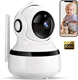 WiFi IP Camera 1080P Pet Camera, COOCHEER Security Camera System Wireless with Motion Detection, Two-Way Audio, Night Vision, Baby Remote Surveillance Monitor with MicroSD Slot and Cloud Storage