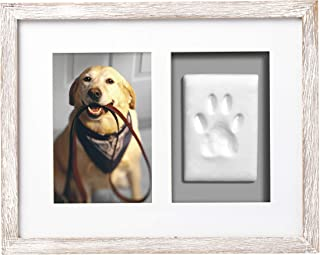 Pearhead Dog Or Cat Paw Prints Pet Wall Frame, Great Gift for Pet Lover, Perfect Fathers Day Gift for Any Dog Dad or Cat Dad