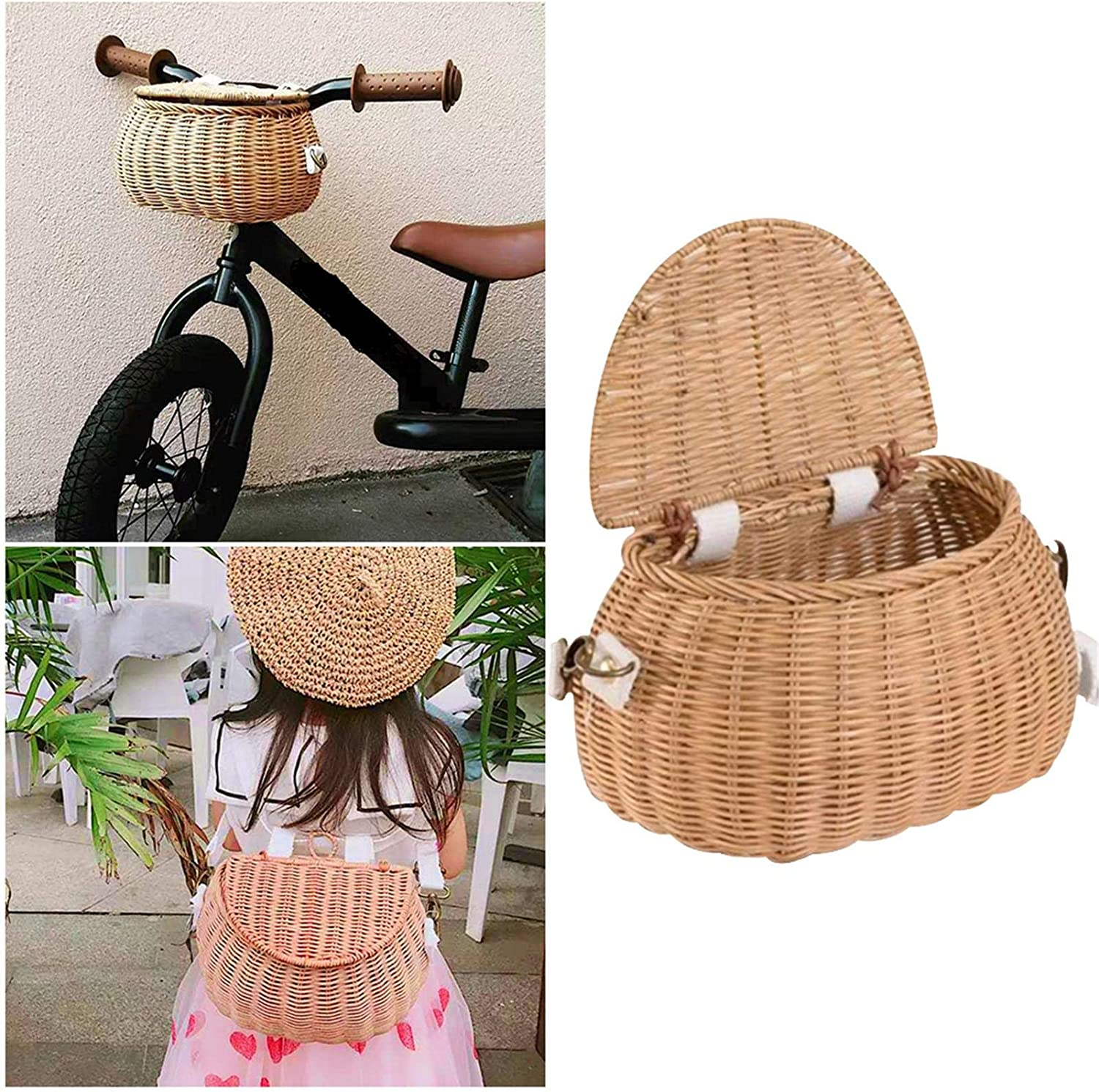 2IN 1 Children's Wicker Small Ranking TOP2 Front 5% OFF Bicycle Backpack and