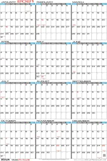 "JJH Planners - Laminated - 24"" X 36"" Large 2021 Erasable Wall Calendar - Vertical 12 Month Yearly Annual Planner (21v-24x36)"