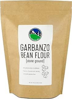Garbanzo Bean Flour aka Chickpea Flour | Non-GMO Project Verified | 100% Non-Irradiated | Certified Kosher Parve | USA Grown | Field Traced (3 LB Garbanzo Beans Flour | Kraft Bag)
