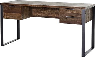 Marchio Amazon -Movian Ems - Scrivania con 3 cassetti, 152,4 x 60 x 76,2 cm, effetto quercia invecchiata